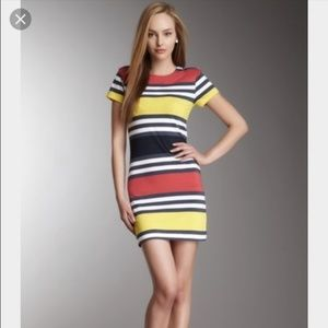 French Connection Mini Striped Bodycon Dress Size
